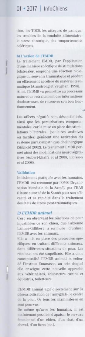 Article emdr animal en suisse 2