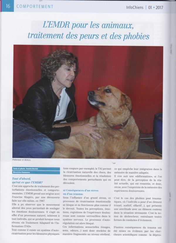 Article emdr animal en suisse